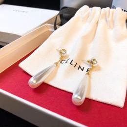 Ovale ohrringe online-Neuer arrial Tropfenohrring der ovalen Form mit Naturperle bördelt Schmucksachen für Frauen Ohrring freies Verschiffen PS6709