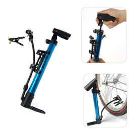 mini cycle bike Promo Codes - Bicycle Pump Aluminum Alloy Mountain Road Bike Air Cycling Parts Mini Basketball Bike Motorcycle Household Pump Inflator Gauge