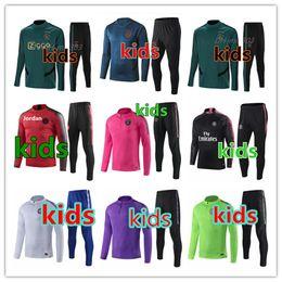Trajes de fútbol para niños online-2019 2020 chándal de fútbol psg kids 18 19 20 chandal psg niños kids football tracksuit