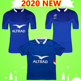 T shirts parole online-S-5XL NUOVO 2020 FRANCIA RUGBY Jerseys National Team Home Camicia League Blue League 19 20 T-shirt polo Tazza di parole da uomo Top Quality 2019 2020