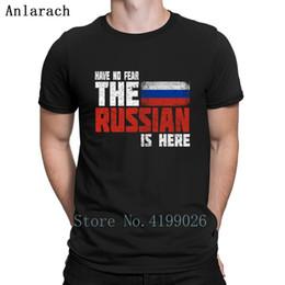 2019 camisetas personalizadas más talla Rusia Bandera rusa Idea de regalo Camiseta Primavera 2019 Camisa de Hip Hop de color sólido de calidad superior Patrón personalizado Tallas grandes El Nuevo rebajas camisetas personalizadas más talla