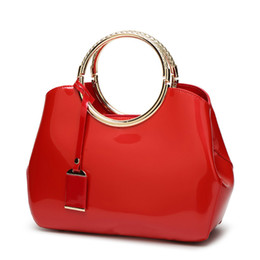 Moda mujer bolsos de noche bolso de charol bolsas de hombro del color del caramelo del partido nupcial rojo Messenger Bag alta calidad Sg13 desde fabricantes
