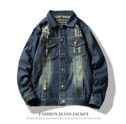 Il nuovo disegno Young Fashion Giacca di jeans uomini sciolti Uomini Outwear Turn down Collar Casual Male Jeans Jacket