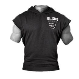 Uomini in grigio serbatoio online-Brand Palestre Abbigliamento Fitness Uomo con cappuccio Mens Bodybuilding Top Workout Tank da uomo Nero / grigio cotone Top Q190517