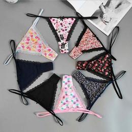 Tamanho lingerie sexy xs on-line-XS-XL Tamanho Underwear Mulheres Plus Size Lingerie Thongs e G do laço da corda Calcinhas T-back sem emenda da corda G-string Underwear