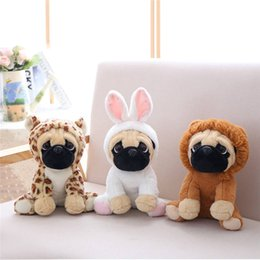 Venta caliente juguetes de peluche 24 cm cachorro de dibujos animados de peluche de juguete lindo vestir cachorro muñeca relleno juguetes interactivos para niños eluche pelucia 20 desde fabricantes
