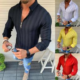 Vestido Casual Slim Fit camisa dos homens Moda Verão AU de longos da luva do Tops Tee de