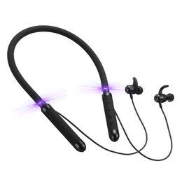 Auriculares de cuello online-Auricular Bluetooth Manos libres Deportes Inalámbrico Mini Estéreo Bluetooth Auricular montado en el cuello para teléfonos inteligentes con caja de embalaje al por menor DHL El mejor