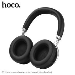 Cuffia avricolare del bluetooth del telefono delle cellule online-Hoco S3 Bluetooth Scorpio Cuffie per la riduzione del rumore Bluetooth V4.2 Supporto per auricolare AUX Wired Input Cell Phone Accessorio Cuffia ABS di alta qualità