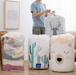 Caixas de roupa dobráveis on-line-Sacos de armazenamento dobrável roupas cobertores camisola caixa oganizer bolsa de alta qualidade caixas de armazenamento dos desenhos animados frete grátis