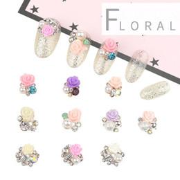 Nouvelle Résine Doux Céramique Fleur Manucure Fleur Japonaise Diamant Nail Art Mobile Téléphone Bijoux Nail Stick Drill DIY Décoration ? partir de fabricateur