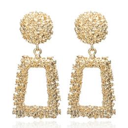 aros indianos Desconto Big Vintage Brincos para as mulheres da cor do ouro declaração Geométrica brinco 2019 de metal earing Pendurado moda jóias tendência