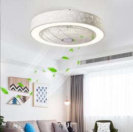 2019 luci di ventilatori moderni Invisible luci ventilatore a soffitto portato camera da letto vita moderna minimalista luci del ristorante per la casa ventilatore a distanza ventilatori a soffitto 60cm * 60 centimetri