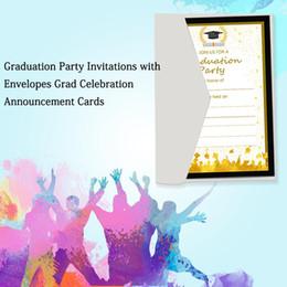 Invitations de fête de remise des diplômes innovantes 50 Pcs magnifiquement conçu carte d'impression pour les fournitures de fête de remise des diplômes ? partir de fabricateur