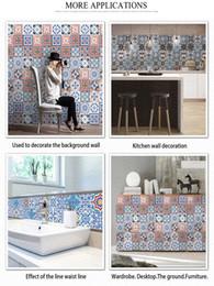 decorare le pareti della cucina Sconti Vintage Adesivo per piastrelle marocchine creativo del modello Wall Sticker casa Soggiorno Camera da letto Cucina Spedizione rimovibile decorazione Wall Paper libero