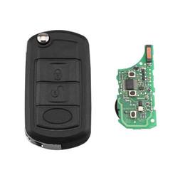 2019 auto fernschlüssel gehäuse 3 Tasten 433 Mhz PCF7941 chip Flip Remote Keyless Schlüsselanhänger Für Land Rover Range Rover L322 HSE Vogue HU101 Klinge