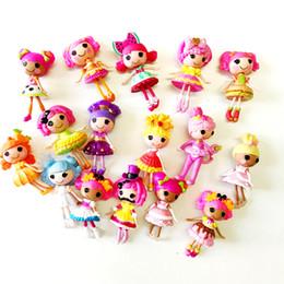 UK 8 un.//set Mini Lalaloopsy PVC Figuras Muñeca Juguete a granel Botón Ojos Juguetes para niñas