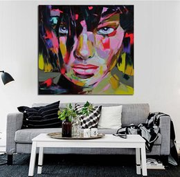 2019 abstraktes gesicht malerei leinwand Bunte abstrakte Frau Gesicht hochwertige handbemalte HD Print Art Ölgemälde auf Leinwand Wandkunst HomeOffice Cafe Bar Deco p153 rabatt abstraktes gesicht malerei leinwand