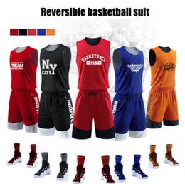 8fd86cce6 basketball training jerseys 2019 - Hot Selling Blank Double-sided wear Basketball  Jersey Suit Customization