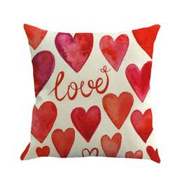 fundas de almohada hechas en casa Rebajas TENSKE 2019 Funda de Almohada Funda de Almohada Feliz Día de San Valentín Sweet Love Funda de Cojín Cuadrada Multicolor Hecho A Mano en Casa 3.11