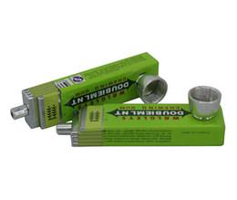 fumo tubo di metallo verde spada gomma design-click n vape tabacco fumo tubo di tabacco pipe da cliccare su verde fornitori