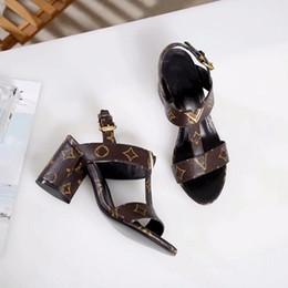 2019 дизайнер роскошные женщины свадебные туфли кожа оранжевый коробка мешок пыли на высоком каблуке кожаные ботинки с мешок пыли на каблуках сандалии платформы открытые пальцы от