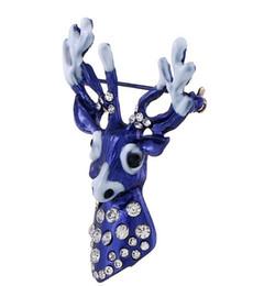 Canada Broche de cerf à la mode de haute qualité avec une goutte d'huile et une broche en diamant pour la décoration de Noël en Europe et en Amérique Offre