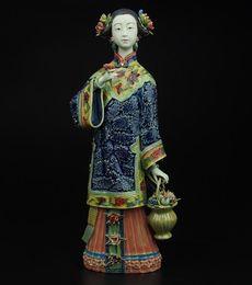 porcelaine poupées à la main Promotion poupée maître de fines dames de la Chine ancienne figure ornements joyeux anniversaire artisanat en céramique à la main moderne