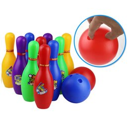 47a128b2c4907 Bunte Standard 12 Stück Bowling Set w   10 Pins