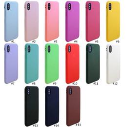 Canada Nouveau Haute Qualité Bonbons Couleur Doux TPU Silicone Mobile Téléphone Portable Cas Slim Couverture Pour iphone XS max XR X iphone 6 6S 7 8 plus 5S avec sac d'opp Offre
