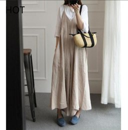 d7e788623723 Women Jumpsuits Spaghetti Strap V Neck High Fashion Loose Design Casual  Style Ladies Jumpsuit Girls Daily Jumpsuits 2019 Spring girls dress
