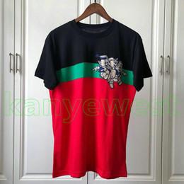 00ecd4f55d81 2019 más nuevo Primavera Verano Lujo Europa para hombre 3 Cerdo Bordado  PatchWork camiseta Moda camisetas Para mujer del diseñador Camiseta Casual  algodón ...