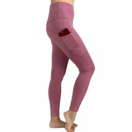 Primavera Outono e Inverno Feminino Hetero Calças Slim Yoga Aptidão Calças Apertadas Verde Azul Roxo Preto Azul Escuro Rosa 6 Cores Opcional CK7095 de Fornecedores de calças justas de inverno rosa