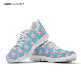 Zapatos de cerdos online-Twoheartsgirl Cerdo Lindo Mujer Zapatillas de deporte de Las Mujeres Zapatos Casuales Mujeres Cómodo Mesh Flats Plataforma Zapatos Feminino Zapatillas Mujer