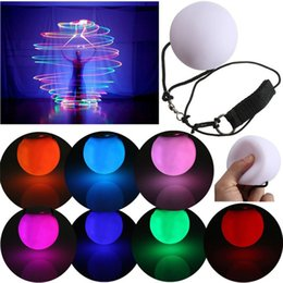 belly dancing decorations Promo Codes - LED Multi-Coloured Glow POI Thrown Balls Light up Diameter 8cm For Professional Belly Dance Hand Prop Party Decoration Waterproof