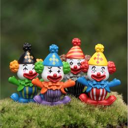 Decorazioni per insetti da giardino online-Clown Cartoon Figurine Giocattolo DIY Insetti Terrario Micro Paesaggio Giardino fai da te Piante grasse Terrario Home Tree Decorazioni