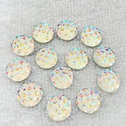 40 adet 14mm AB Renkli flatback taşlar ve kristaller Reçine Yuvarlak Rhinestone trim DIY Gelinlik-B810 nereden elmas ışıltılı tırnak gazı tedarikçiler