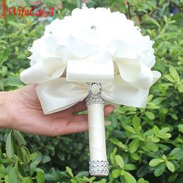 fitas de hula Desconto Em estoque mais barato pe espuma de dama de honra flores rosa fita de noiva falso casamento buquê de noiva de 14 cores c19041701