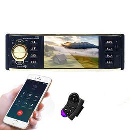 Cámaras de coche de control remoto online-4 '' Pantalla TFT 1 Din Car Radio Audio Estéreo MP3 Car Audio Reproductor Bluetooth con cámara de vista trasera Control remoto USB FM
