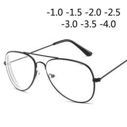 2019 blaue mondbrille Retro Metall Cat Eye Frame Myopie Brille Brille für Frauen und Männer -1,0 -1,5 -2,0 -2,5 -3,0 -3,5 -4,0