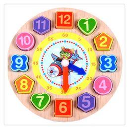 Legno Digital geometrica Nesting orologio colorato forma di corrispondenza Blocchi educativi String Toy regalo per i capretti ottenere divertimento da