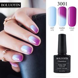 color de ánimo de uñas Rebajas Nail Art Mood Cambiar de color de uñas de gel 8 ml polaco 29 colores empapa del barniz UV LED Gel manicura de la laca UV Top Coat vernis