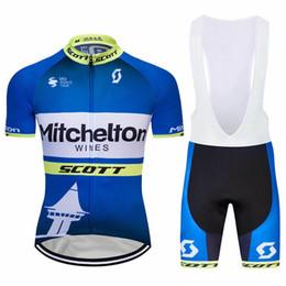 2019 équipe cycliste saxo bank 2019 Nouvelle équipe Mitchelton Hommes Cyclisme Jersey Ensembles Manches Courtes Vélo Vêtements Ropa Ciclismo Vélo Sportswear VTT Vêtements Costume Y050602