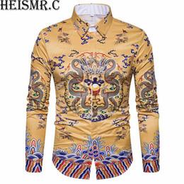 2018 Mens Luxury High Quality Silk Black Golden Dragon Printed Vogue T-Shirts