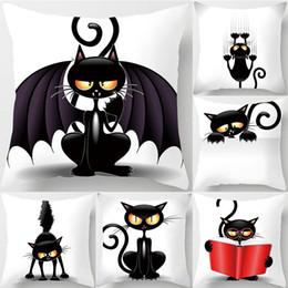 2019 katze dämon Halloween Demon Kissenbezug Halloween Black Cat Dekokissenbezug Dekokissenbezug rabatt katze dämon