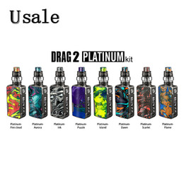 kit platino Sconti Voopoo DRAG 2 Platinum Kit 177W con UFORCE T2 Tank N3 Triple Mesh Bobine U2 Dual Coils New Drag 2 100% originale