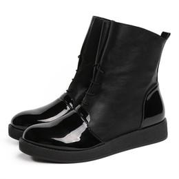 Le più nuove donne sexy stivaletti moda femminile brevetto piattaforma in pelle PU scarpe da donna più stivali taglia per H-167 supplier patent leather platform boots da scarponi da piattaforma in pelle verniciata fornitori