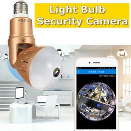 2019 cámaras de control de sonido Monitor de 360 grados 1080P HD Panorama panorámico inalámbrico Wifi IP Bombilla de luz Cámara de seguridad Monitor de casa