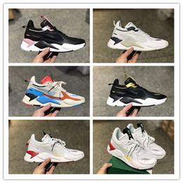 Колеса для обуви онлайн-2019 мода RS-X переосмысление HOT WHEELS 50-й дизайнер кроссовки мода папа обувь спортивные кроссовки хорошее качество мужчины бег размер 40-45