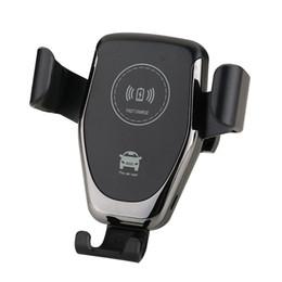 qi car holder Rabatt Car Mount Qi Wireless-Ladegerät für iPhone XS X XR 8 Schnelle drahtlose Aufladung Autotelefonhalterung für Samsung Note 9 S9 S8